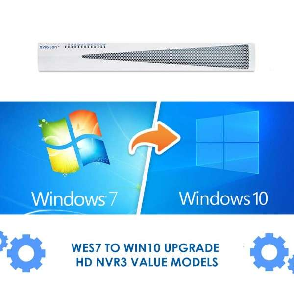 WES7 TO WIN10 UPGRADE - HD NVR3 VALUE MODELS - COMPATIBLE ACC7