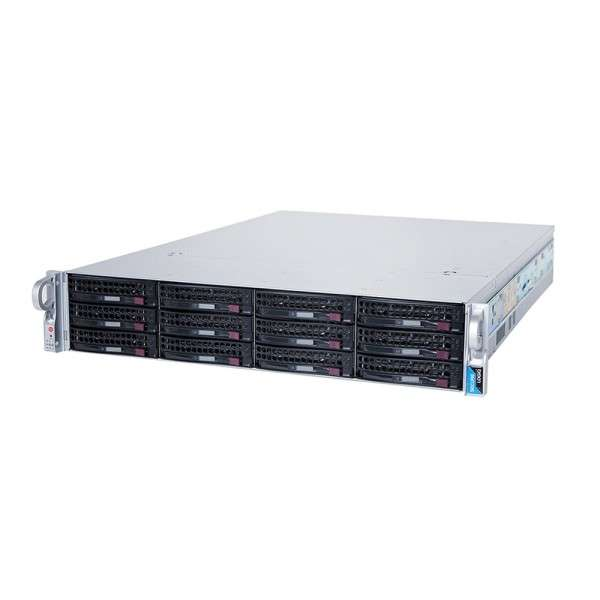 HD ANALYTICS NVR-HA OPTIMISED SERVER 12TB RACK 2U 500MBPS, 2 VIDEO OUT.