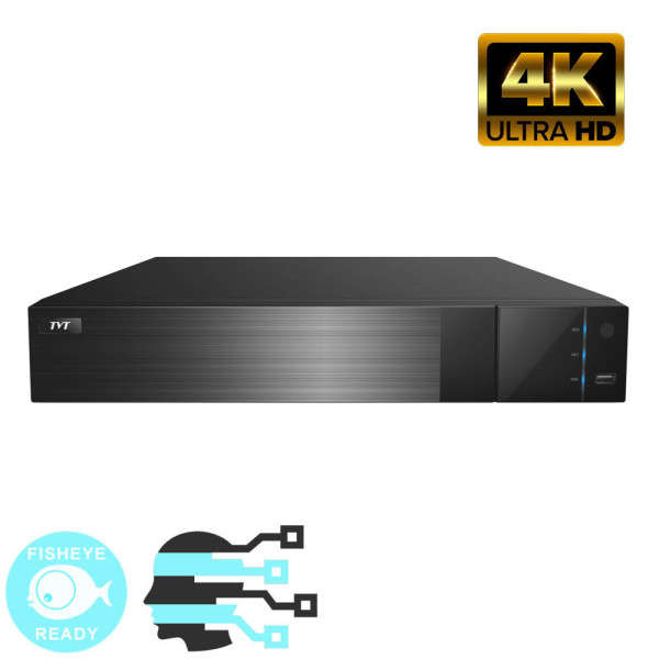 NVR IP 32/16 POE,8MP@25FPS,ONVIF,4 SATA,HDMI 4K,AL 16IN-4OUT,FISH +FACE