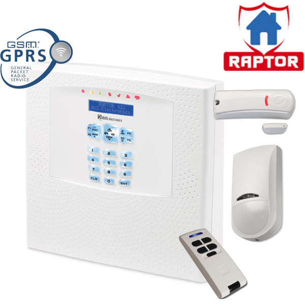 RAPTOR-RK FR 125ZONES WL KP-IN GSM-GPRS IN +JET PA +WIC4 +BIP4+, 220VAC